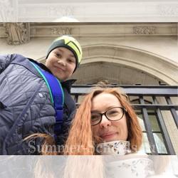 Марина и ее сын Дима 9 лет, в Лондоне в Англии, на каникулах, Английский для детей в Англии