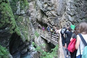 Прогулки у подножия горы в детском лагере Австрии American International School Salzburg