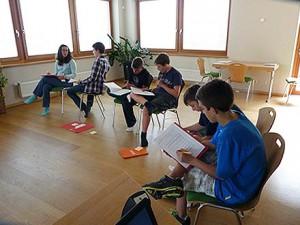 Занятия с ребятами в летнем лагере Австрии Zell am See