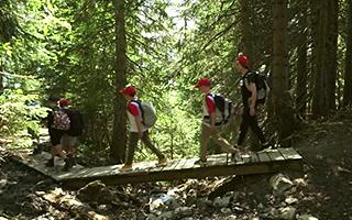 Лагерь в швейцарии для детей организует походы в горы с ночевкой