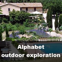 Летняя школа в Италии Alphabet outdoor exploration summer school in Italy